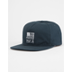 RVCA Flags Unstructured Blue Mens Strapback Hat