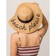 Beach Please Womens Straw Hat