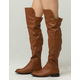WILD DIVA Faux Leather Womens Over The Knee Boots