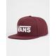 VANS Drop V II Burgundy Mens Snapback Hat