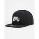 NIKE SB Icon Pro Black Mens Snapback Hat