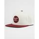 BRIXTON Wheeler Burgundy & White Mens Snapback Hat