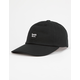 BRIXTON Wheeler Black Mens Strapback Hat