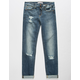 SP BLACK Ripped Roll Cuff Girls Jeans