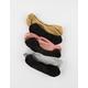 6 Pack Glitter No-Show Socks