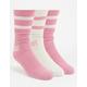 NIKE SB 3 Pairs Dry Crew Pink & White Mens Socks