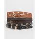 Skinny Grommet Belt 3 Pack