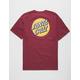 SANTA CRUZ Other Dot Burgundy Mens T-Shirt