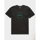 HUF Box Logo Black Mens T-Shirt