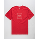 HUF Box Logo Red Mens T-Shirt