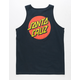 SANTA CRUZ Classic Dot Navy Mens Tank Top