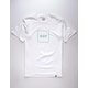 HUF Box Logo White Mens T-Shirt