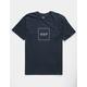 HUF Box Logo Navy Mens T-Shirt