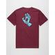 SANTA CRUZ Screaming Hand Burgundy Mens T-Shirt