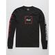 HUF Domestic Black & Red Mens T-Shirt