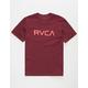RVCA Big RVCA Burgundy Boys T-Shirt