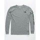 THE NORTH FACE Logo Boys Heather Grey Tee