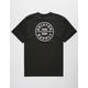 BRIXTON Oath Black Mens T-Shirt