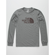 THE NORTH FACE Half Dome Heather Grey Mens T-Shirt