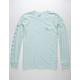 BILLABONG Unity Sleeves Light Blue Mens T-Shirt