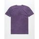 RVCA VA Wash Dark Purple Mens T-Shirt