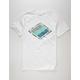 RIP CURL Groundswell Premium White Mens T-Shirt