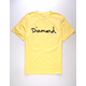 DIAMOND SUPPLY CO. OG Script Light Yellow Mens T-Shirt