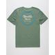 BRIXTON Wheeler II Green Mens T-Shirt