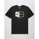 HURLEY Plaque Black Mens T-Shirt
