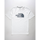 THE NORTH FACE Half Dome Logo Fill White Mens T-Shirt