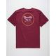 BRIXTON Wheeler II Burgundy Mens T-Shirt