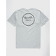BRIXTON Wheeler II Heather Grey Mens T-Shirt