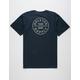 BRIXTON Oath Navy Mens T-Shirt