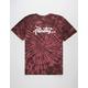 PRIMITIVE Thrashed Burgundy Mens T-Shirt