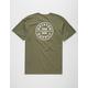 BRIXTON Oath Olive Mens T-Shirt