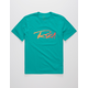 RVCA Skratch Teal Blue Boys T-Shirt