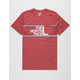 THE NORTH FACE Americana Heather Red Mens Pocket Tee