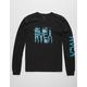 RVCA Big Torn Black Mens T-Shirt