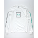 HUF Domestic White, Black, & Green Mens T-Shirt