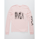 RVCA Big Torn Pink Mens T-Shirt