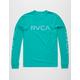 RVCA Big RVCA Sleeves Teal Blue Mens T-Shirt