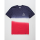 HUF Gradient Red, White, & Blue Mens T-Shirt