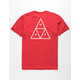 HUF Essentials Red Mens T-Shirt