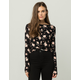 IVY & MAIN Floral Knot Front Womens Crop Top