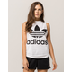 ADIDAS Trefoil Womens White & Black Muscle Tank