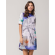ADIDAS Floral Mock Neck Dress