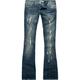 PARIS BLUES Destroyed Womens Bootcut Jeans