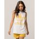 ADIDAS Trefoil Womens White & Yellow Muscle Tank