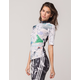 ADIDAS Floral Mock Neck Womens Top