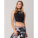 ADIDAS Black Crop Womens Tank